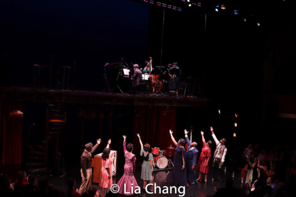 The company of Regina Taylor?s OO-BLA-DEE during the opening night curtain call at Tw Photo