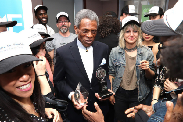 2019 Richard Seff Award winner and 2019 Tony Award winner Andre De Shields and 2019 Tony winner Anais Mitchell