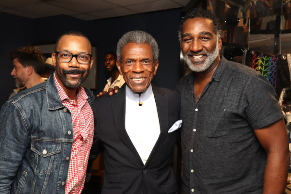 T. Oliver Reid, 2019 Richard Seff Award winner and 2019 Tony Award winner Andre De Shields and Norm Lewis