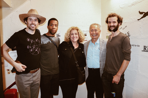 James Davis, Anthony Cason, Mary Testa, George Takei, Will Brill Photo