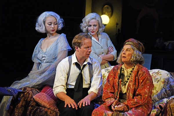 Emma Naomi, Geoffrey Streatfeild, Lisa Dillon and Jennifer Saunders Photo