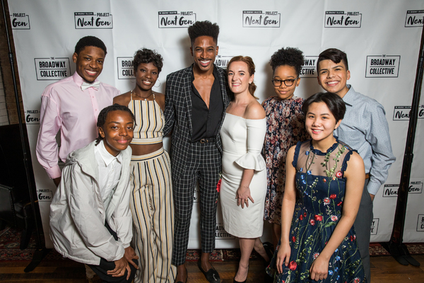 Broadway Collective Project Next Gen Students with Robert Hartwell and Kate Lumpkin