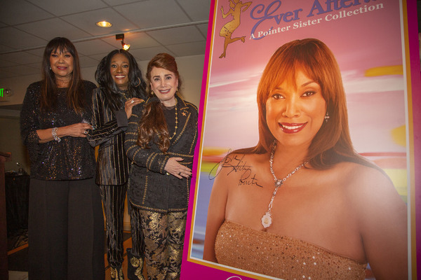 Anita and Bonnie Pointer with Anita's Art Photo