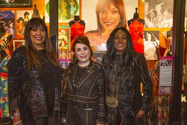 Anita Pointer, Donelle Dadigan, Bonnie Pointer with Exhibit Photo