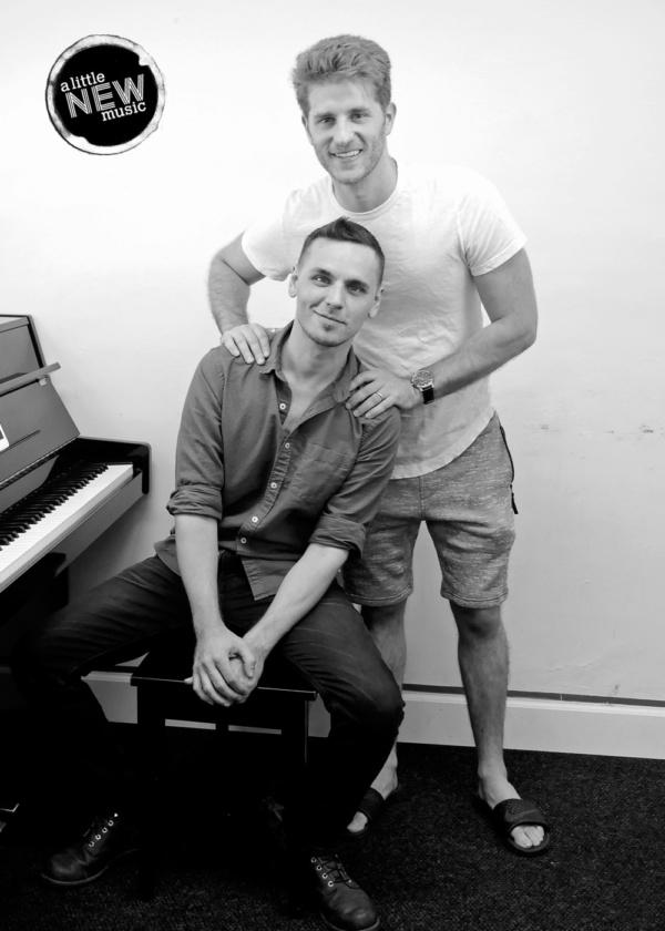 Jonah Platt with music director Gregory Nabours
