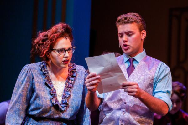Julia Murphy (Miss Flannery) and Nate Schlabach (Trevor Grayden) Photo