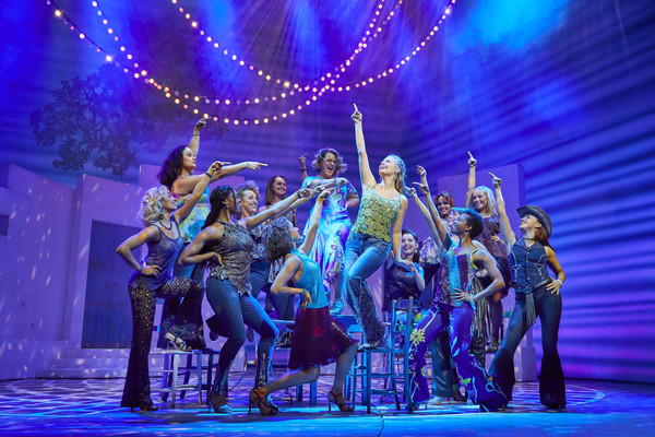 Lucy May Barker and the cast of MAMMA MIA!