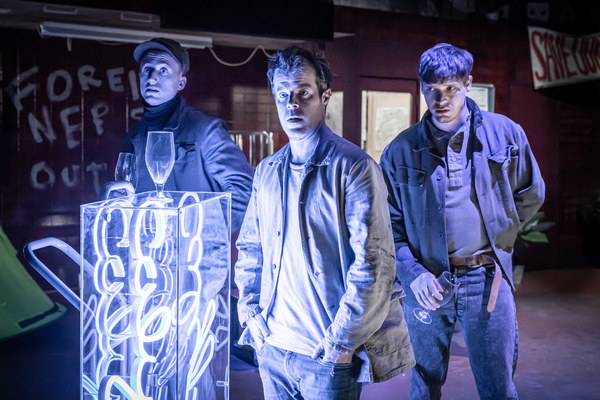 Theo Barklem BIggs, Stephen Wight, and Billy Howle