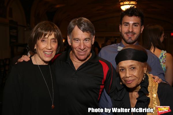 Susan Birkenhead, Stephen Schwartz, guest and Micki Grant Photo