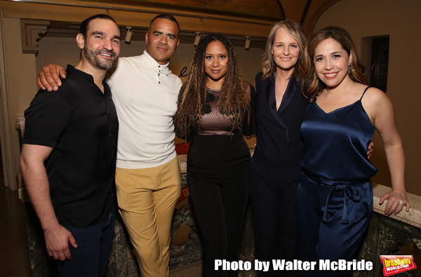 Javier Munoz, Christopher Jackson, Tracie Toms, Helen Hunt and Andrea Burns