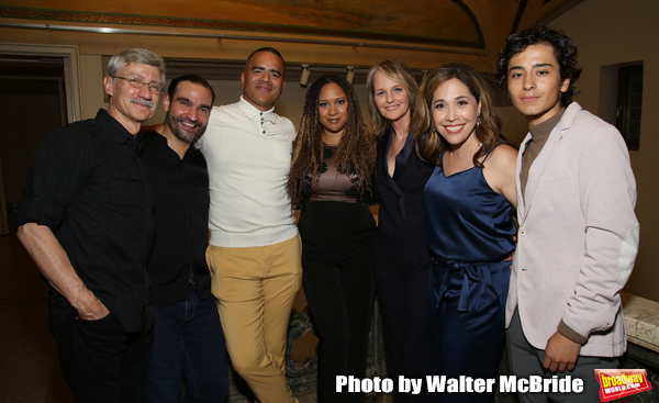 David Garrison, Javier Munoz, Christopher Jackson, Tracie Toms, Helen Hunt, Andrea Burns and Mateo Ferro