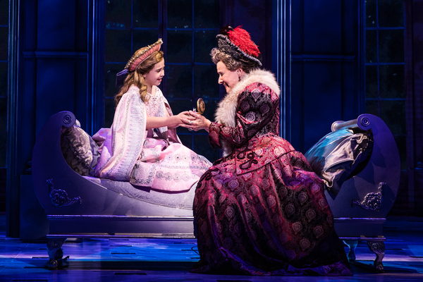 Victoria Bingham (Little Anastasia) and Joy Franz (Dowager Empress) in the National T Photo