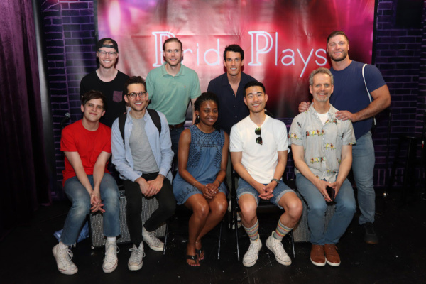 Seated: Taylor Trensch, Adam Chanler-Berat, Pascale Armand, Daniel K. Isaac, Patrick  Photo