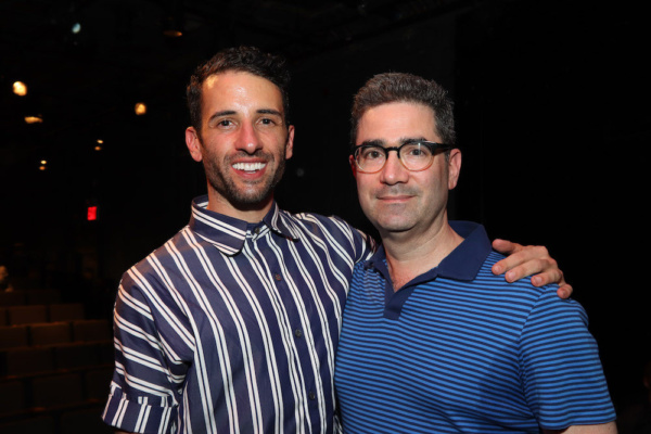 Director Nic Cory and Playwright Jonathan Tolins Photo