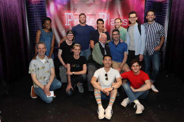 Seated: Patrick Breen, Joey Odom, Tyler Osgood, Ted Snowden, Playwright Jonathan Tolins, Daniel K. Isaac and Taylor Trensch. Standing: Pascale Armand, Brock Yurich, Preston Sadleir, Zachary Booth, Ada