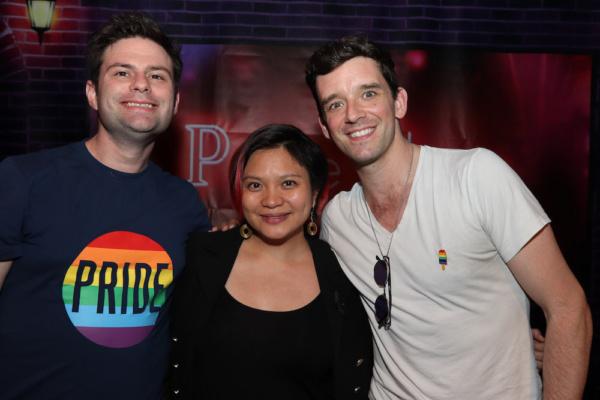 Festival Producer Doug Nevin, Director Mei Ann Teo and Festival Producer Michael Urie Photo