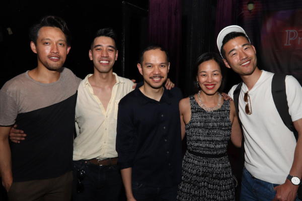 Vichet Chum, Alton Alburo, Jon Norman Schneider, Lia Chang, Daniel K. Isaac. Photo by Edward Chin-Lyn