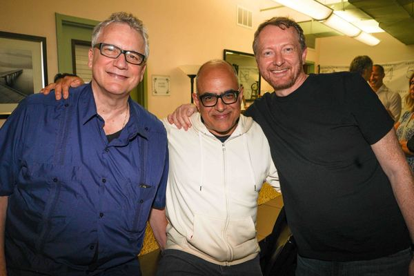 Rick Elice, (Book Jersey Boys), David Yazbek, Bob Martin, (Book The Drowsy Chaperone) Photo