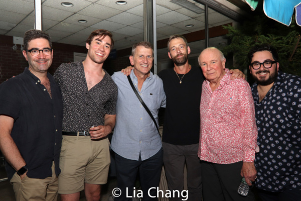 Jonathan Tolins, a guest, Tom Kirdahy, Ken Barnett, Terrence McNally and Michael Shay Photo