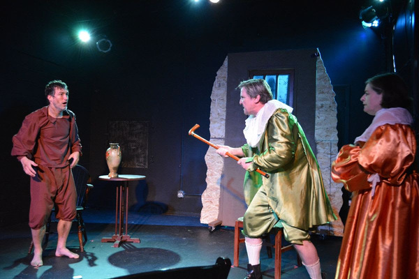 Andrew Thorp as Bunce, Tim Kough as Snelgrave, Rosalind Hurwitz as Darcy Photo
