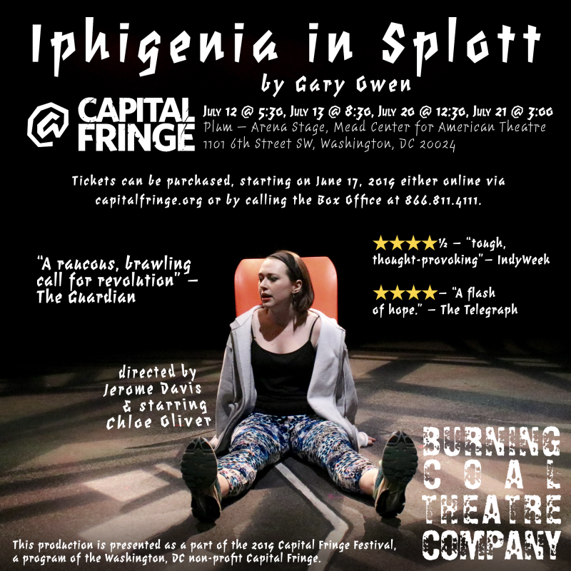 BWW Fringe Highlight Interview: Chloe Oliver of IPHIGENIA IN SPLOTT at Burning Coal Theatre Company