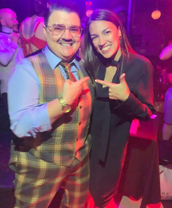 Photo Flash: Congresswoman Alexandria Ocasio Cortez Stops By The McKittrick Hotel