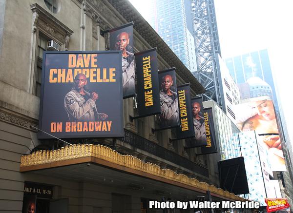 """Theatre Marquee unveiling for """"Dave Chappelle on Broadway"""" at the Lunt-Fontanne on Ju Photo"""