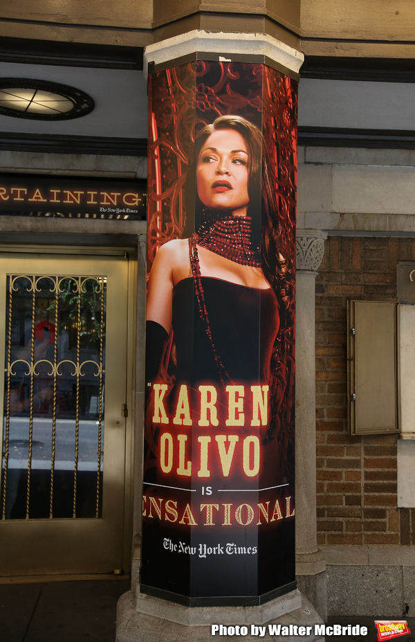 """Theatre Marquee with Karen Olivo  for """"Moulin Rouge!"""""""