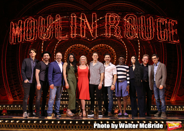 Director Alex Timbers; cast members Tam Mutu, Danny Burstein, Karen Olivo, Robyn Hurd Photo