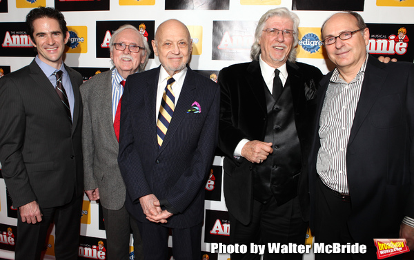 Andy Blankenbuehler, Thomas Meehan, Charles Strouse, Martin Charnin & James Lapine at Photo