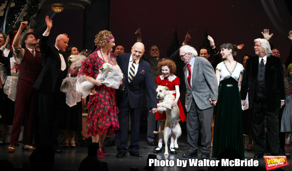 Clarke Thorell, Anthony Warlow, Katie Finneran, Charles Strouse, Lilla Crawford, Sunn Photo
