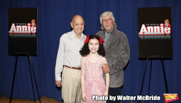 Charles Strouse, Lilla Crawford and Martin Charnin attending the Meet & Greet for 'AN Photo
