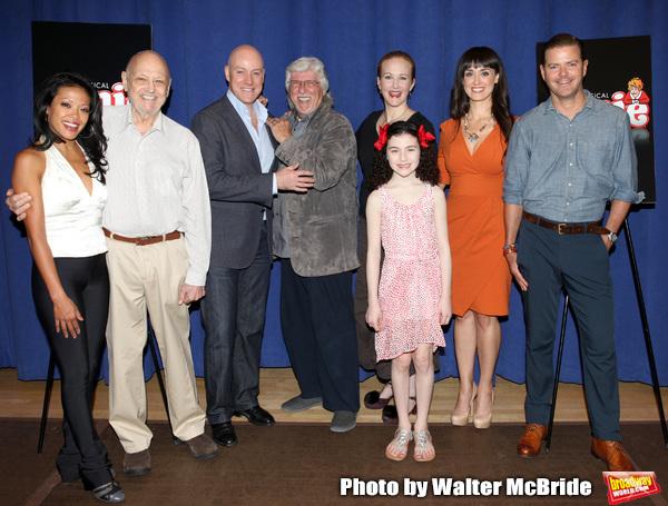 J. Elaine Marcos, Charles Strouse, Anthony Warlow, Martin Charnin, Katie Finneran, Li Photo