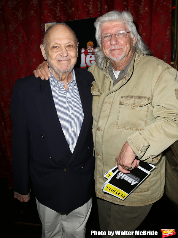 Charles Strouse, Martin Charnin attending the After Party for Jane Lynch debuting as Miss Hannigan in 'Annie The Musical' on Broadway at the Ruby Foo's in New York City on May 16, 2013.