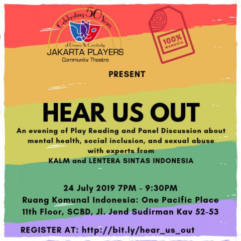 BWW Previews: Activism Play Reading HEAR US OUT at RUANG KOMUNAL INDONESIA