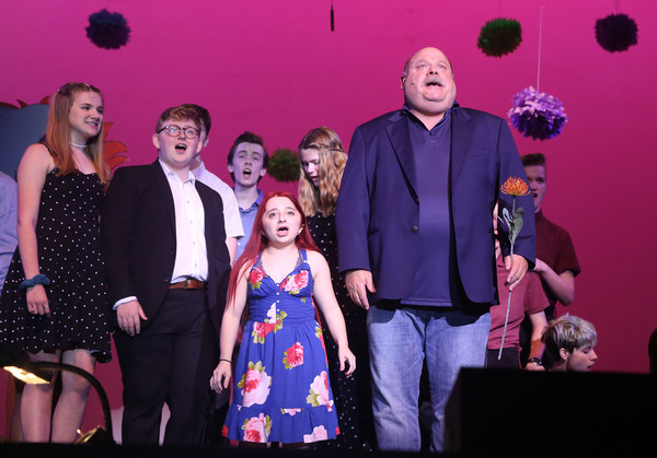 Broadway Bootcamp students and Kevin Chamberlin