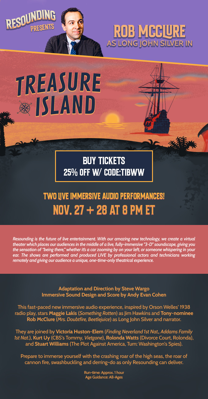 Voyage to Treasure Island with Rob McClure and Maggie Lakis