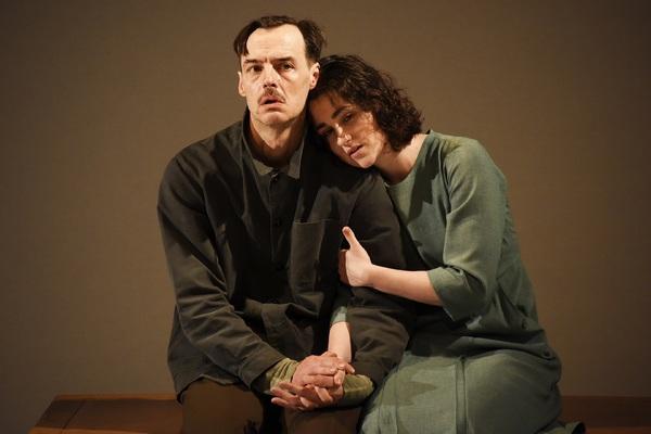 Paul Hilton and Lucy Doyle