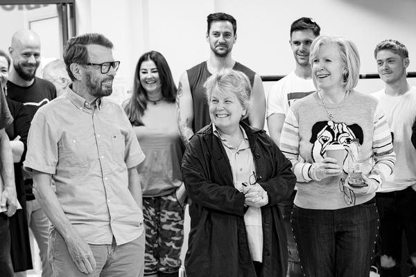Bjorn Ulvaeus, Sandi Toksvig, Ingrid Sutej and the cast of MAMMA MIA! THE PARTY