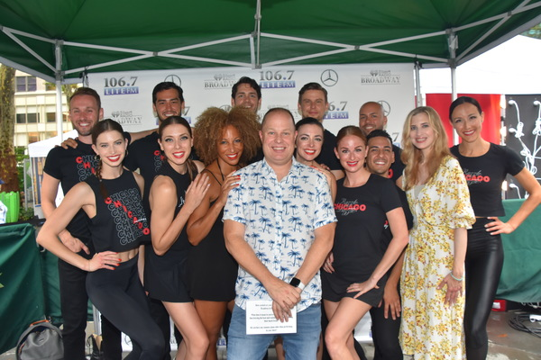 Lana Gordon, Desi Oakley and the cast of Chicago that includes-Eddie Bennett, Gary Cooper, Jessica Ernest, Dan Guterrez, Mary Claire King, Barrett Martin, Pilar Millhollen Drew Nellessen, Beth Nicely, Rachel Schur and Colt Weiss are joined by Paul Bryant (Cubby) and Christine Nagy