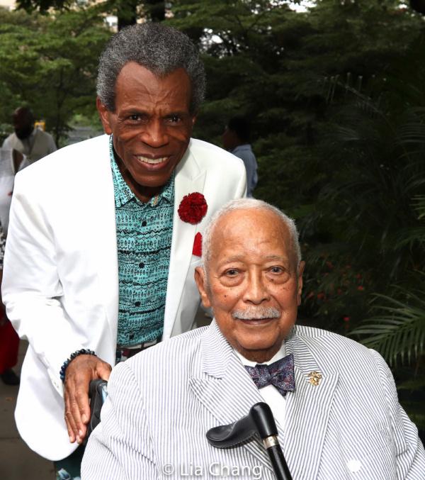 Tony and Emmy Award winner Andr  De Shields with Former Mayor David Dinkins Photo