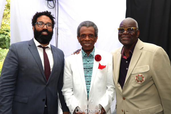Marco Carrion, Commissioner of New York City?s Community Affairs Unit, Tony and Emmy Award winner Andr  De Shields and Harlem Week Vice Chairman Voza Rivers
