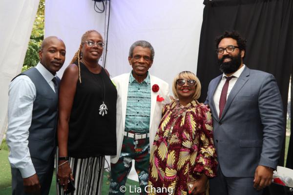 Antwan Lewis (Fox5-TV), Michelle Scott (GHCC Board member), Tony and Emmy Award winner Andr  De Shields, Irene Gandy, Harlem Week Board member and Marco Carrion, Commissioner of New York City?s Commun