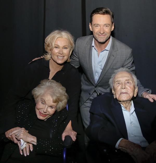 Anne Douglas, Deborra-lee Furness, Kirk Douglas and Hugh Jackman Photo