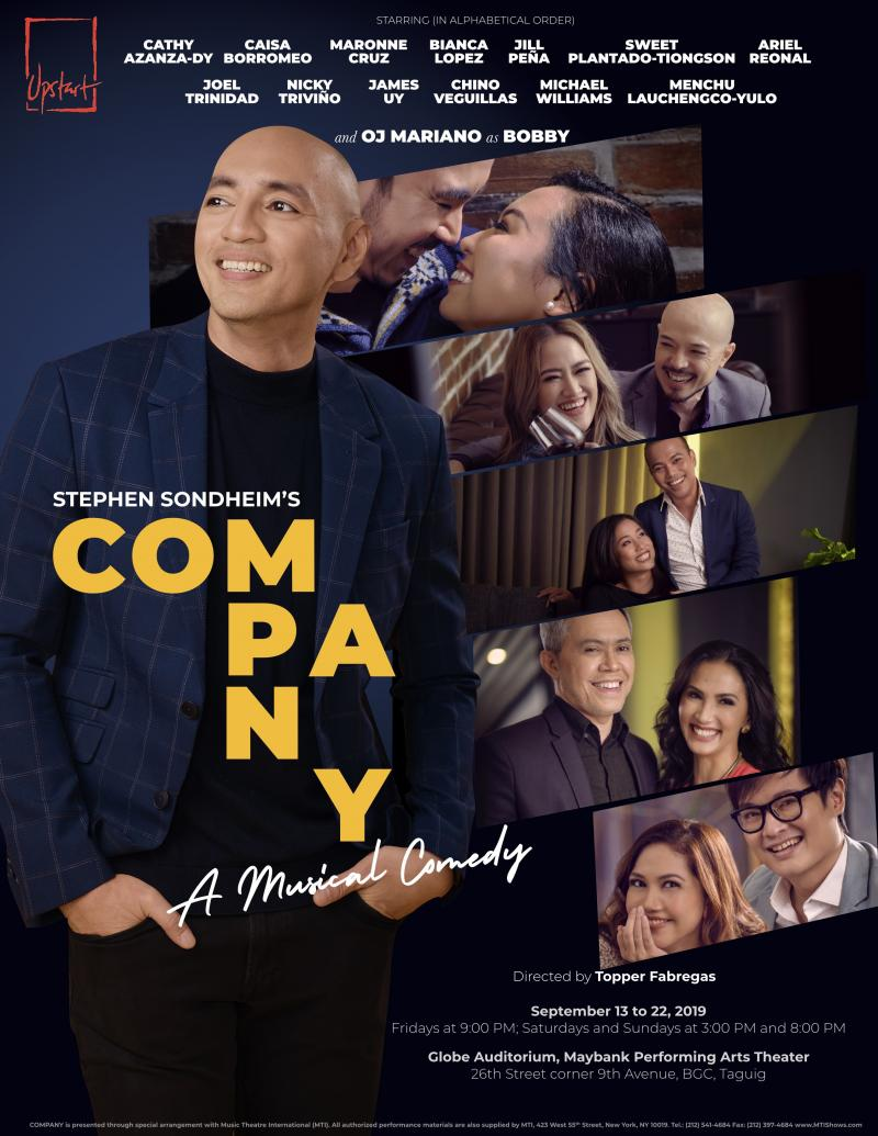 Upstart Productions To Stage Stephen Sondheim's COMPANY; Tickets Now On Sale!