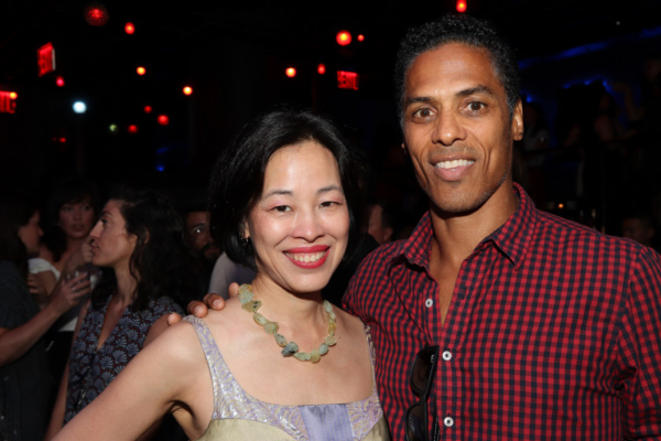 Lia Chang and Taimak, who appeared in THE LAST DRAGON together. Photo by Garth Kravits