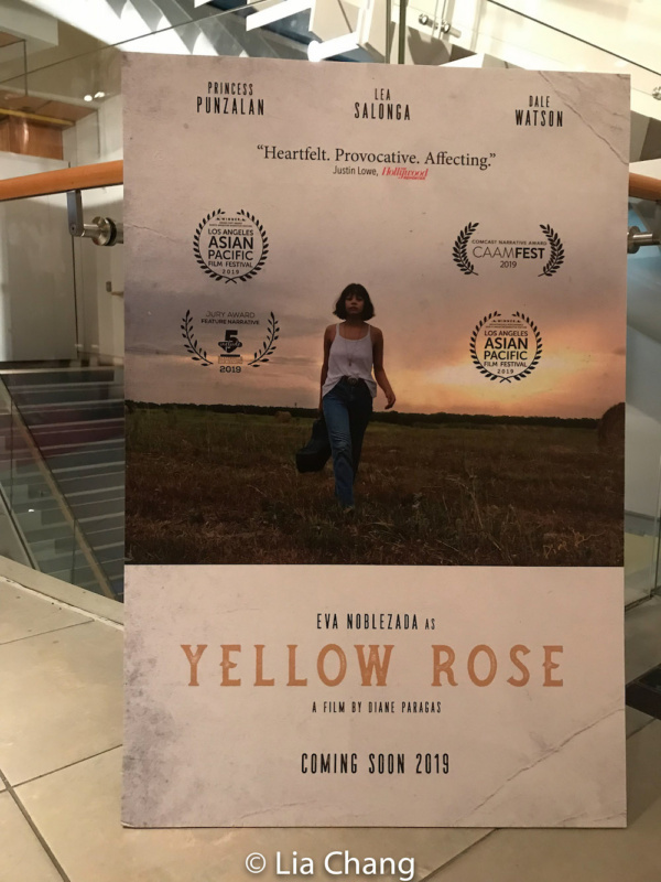 The poster for Diane Paragas'' YELLOW ROSE starring Eva Noblezada, Lea Salonga, Princess Punzalan and Dale Watson.