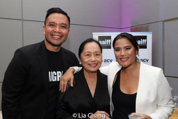 Jose Llana with Diane Paragas and her mother