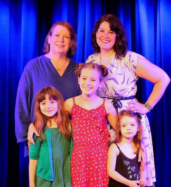 Front: Fiona Quinn, Audrey Bennett and Delaney Quinn  Back:  Spotlight Kidz director  Photo