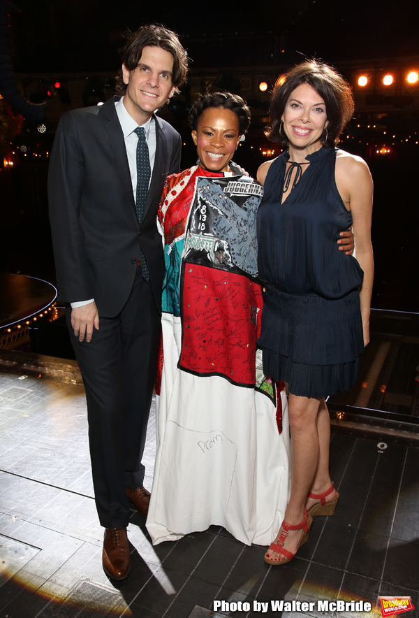 Alex Timbers, Bahiyah Hibah and Jill Abramovitz Photo